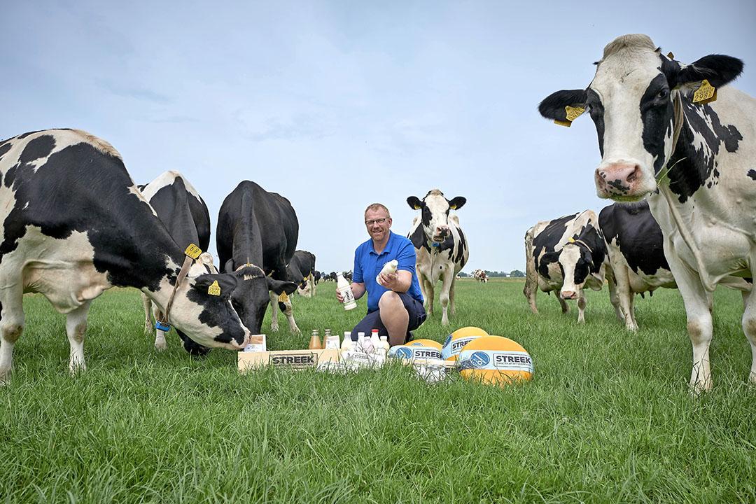 Edwin Veldhuijzen van Groene Hart Coöperatie in Zoeterwoude, een van de meest succesvolle korte ketens. - Foto: Roel Dijkstra