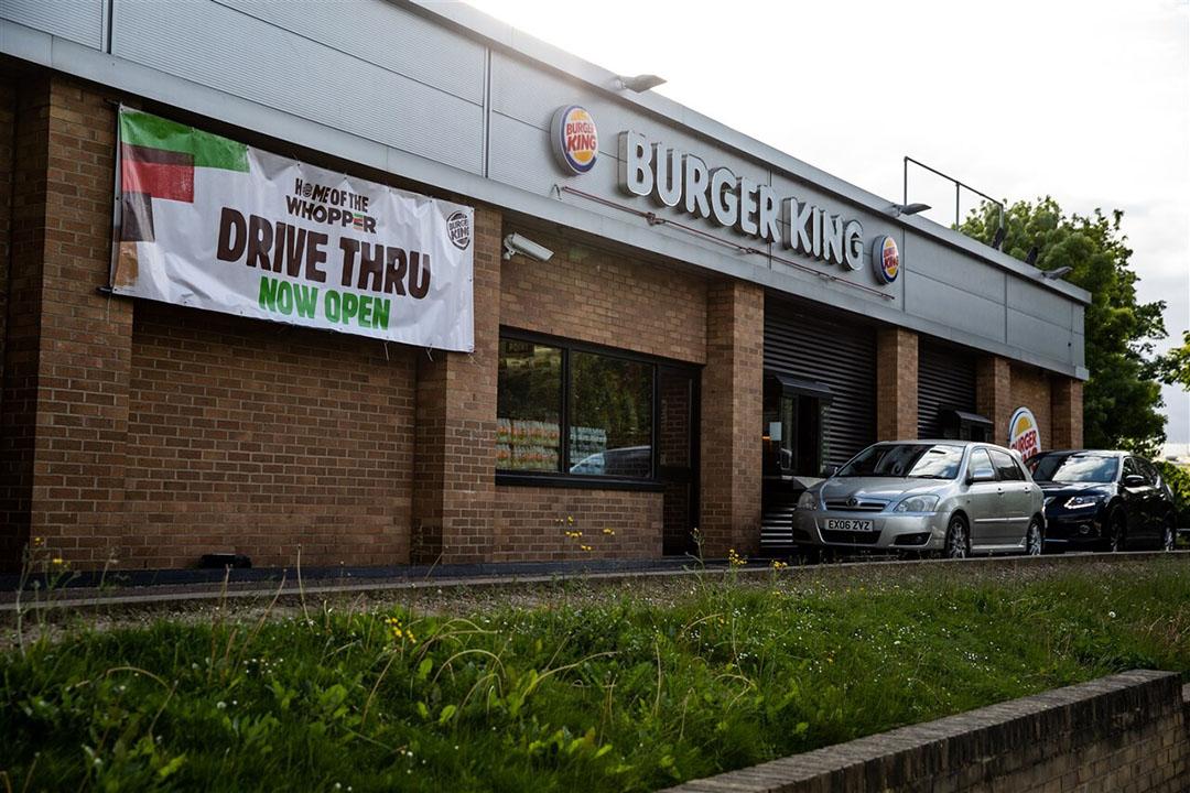 Verkopen Burger King kwart omlaag door coronacrisis