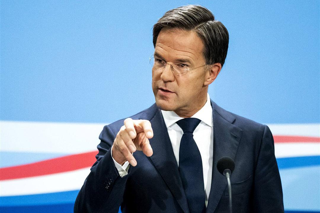 Minister-president Mark Rutte tijdens de persconferentie waarin hij de nieuwe steunmaatregelen toezegde. - Foto: ANP