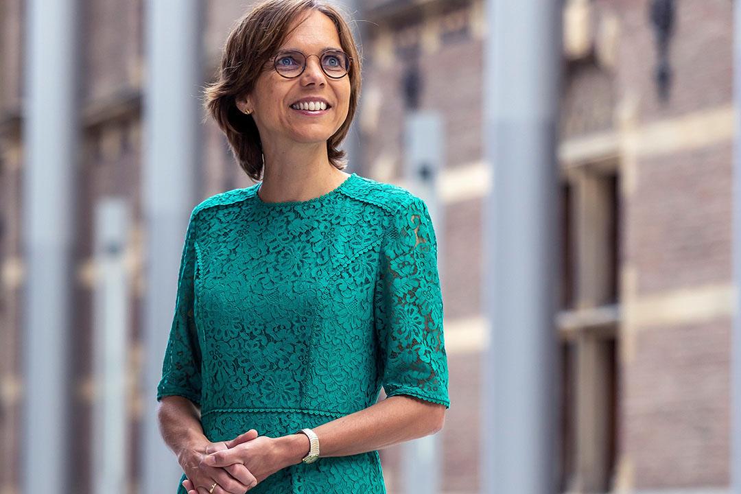 Carla Dik-Faber gaf antwoord op de vraag of zij last had gehad van de 'halveringsuitspraak' van haar D66-collega Tjeerd de Groot. Foto: Roel Dijkstra-Vlaardingen