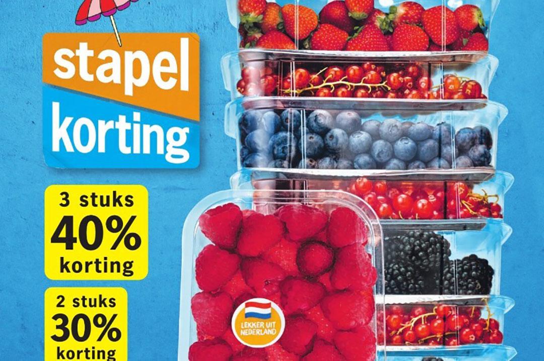 Supermarkten kijken naar een Farmer Friendly-keurmerk, overheden naar een verbod op verkoop onder de kostprijs. - Beeld: dagbladadvertentie AH