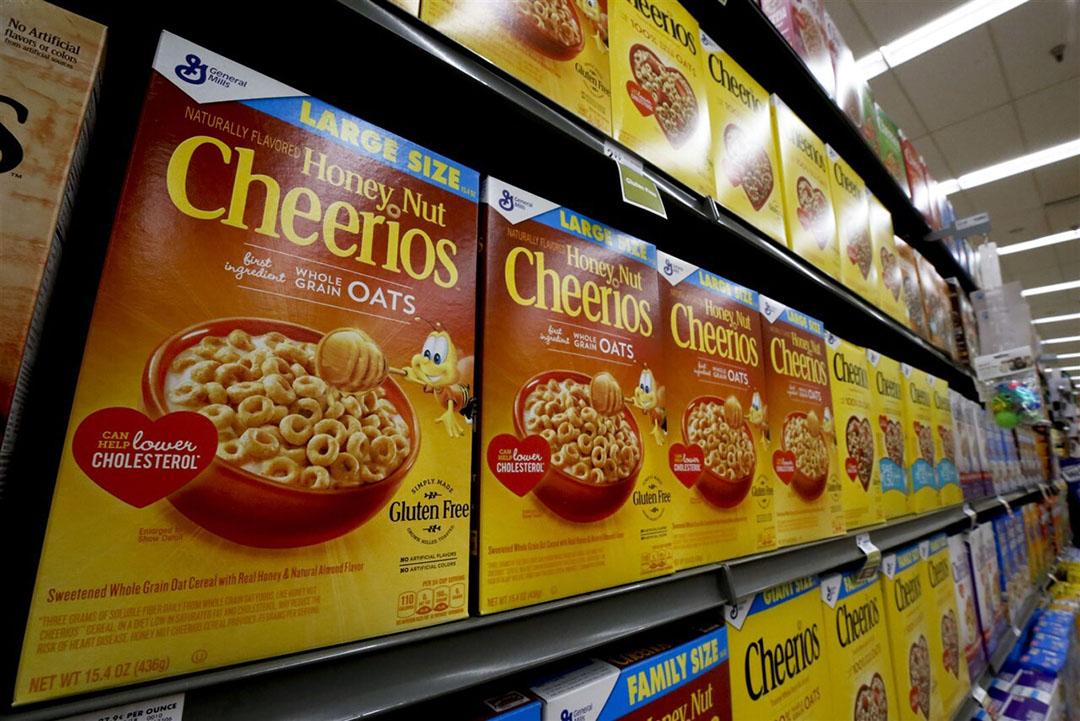 Bij de dalende beurskoersen zitten onder meer die van voedingsmiddelenproducenten. Zo was de meest forse daling voor General Mills met 9,2%. Foto: ANP