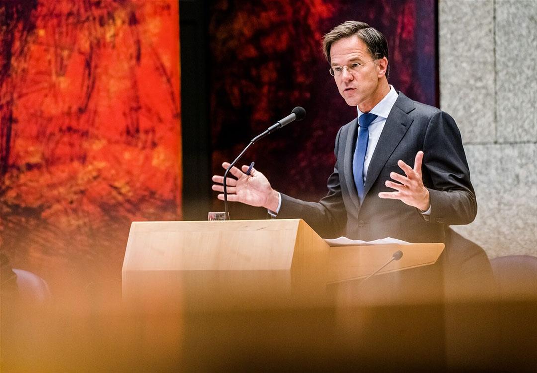 Premier Mark Rutte tijdens de tweede dag van de Algemene Politieke Beschouwingen. - Foto: ANP