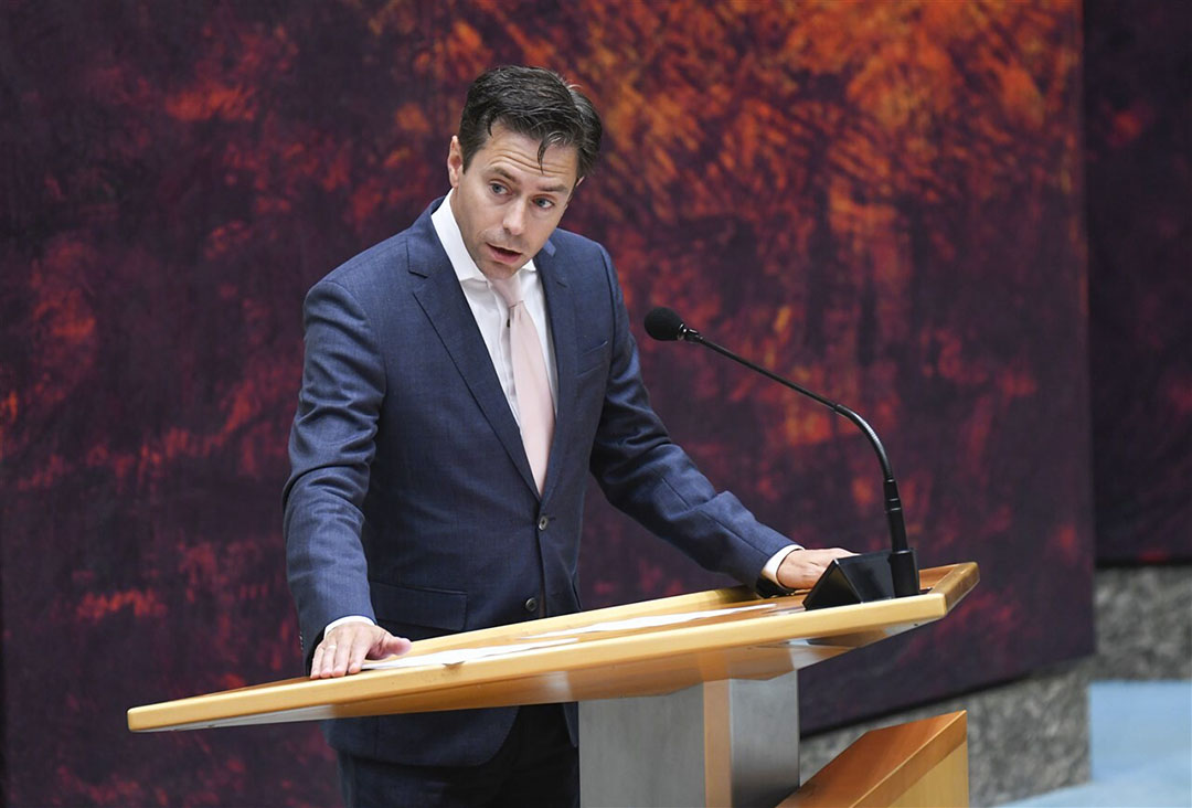 Chris Stoffer, SGP-Kamerlid tijdens debat in de Tweede Kamer. Foto: ANP