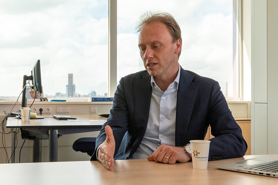 CEO van FrieslandCampina Hein Schumacher. Foto: Anne van der Woude.