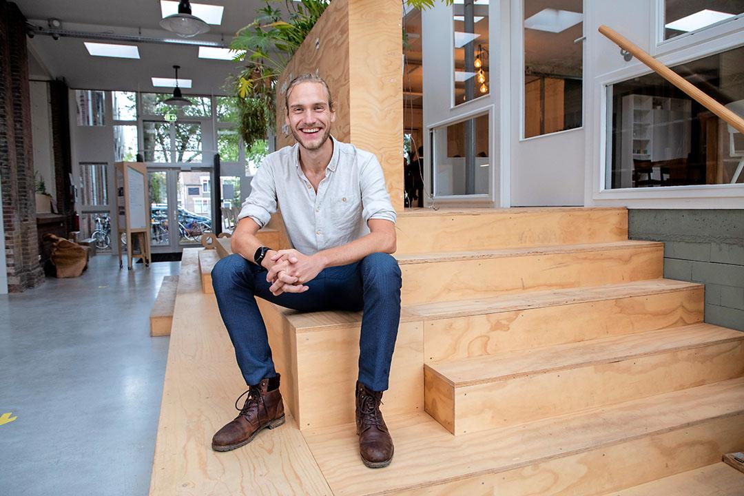 Thomas Luttikhold van Wastewatchers begeleidt onder andere bedrijfskantines bij het terugdringen van voedselverspilling. - Foto: Herbert Wiggerman