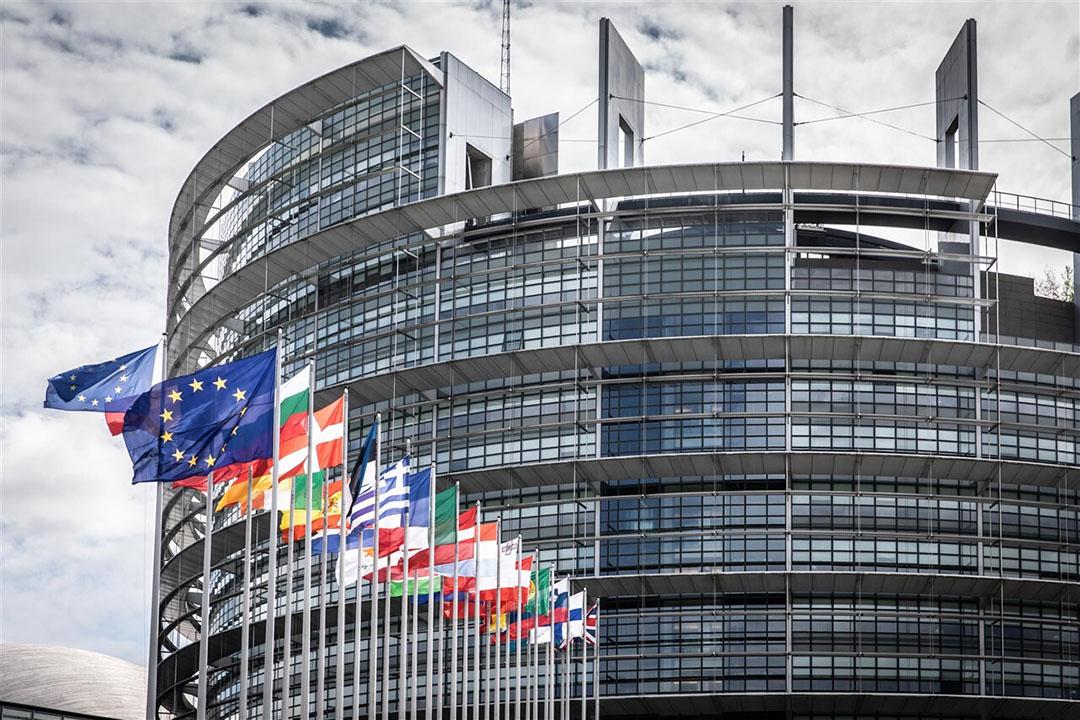 Exterieur van het Europees parlement in Straatsburg - Foto: ANP