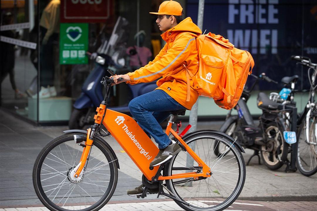 Het Brits-Nederlandse Just Eat Takeaway is het moederbedrijf van Thuisbezorgd.nl. - Foto: ANP/Hollandse Hoogte