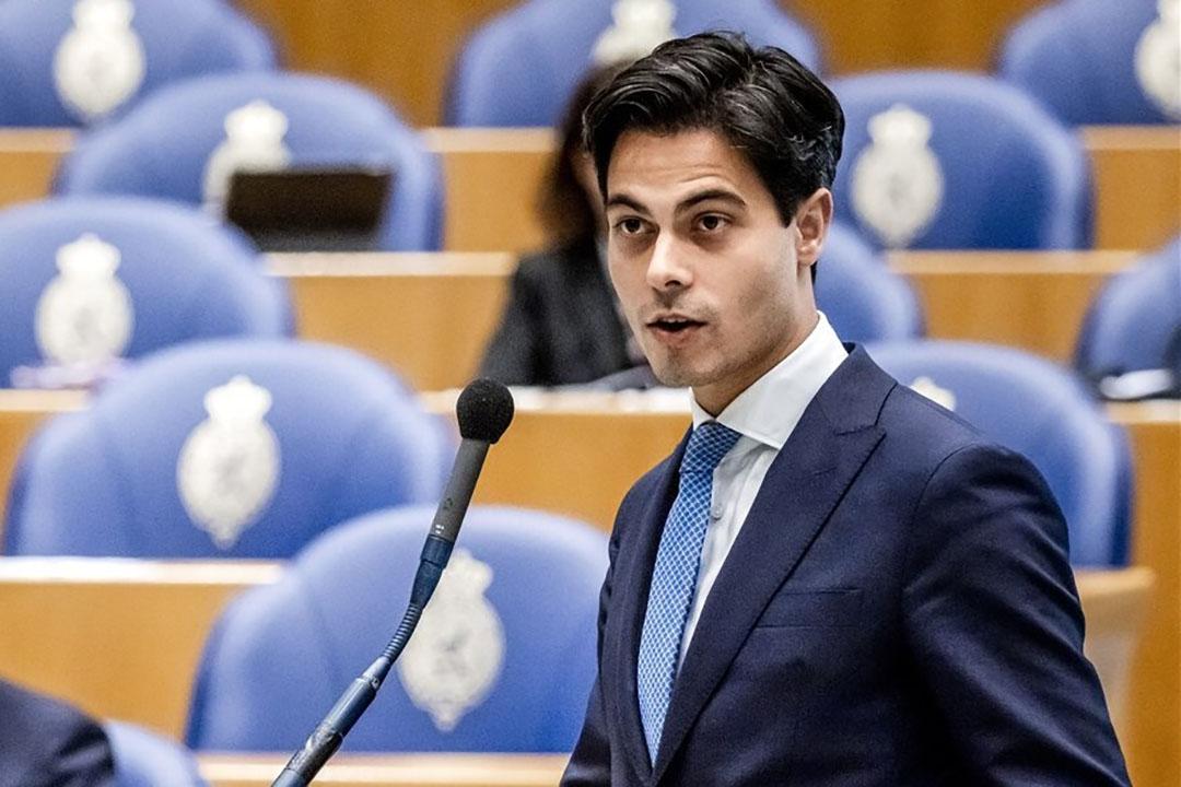 Rob Jetten (D66) tijdens een debat in de Tweede Kamer. - Foto: ANP