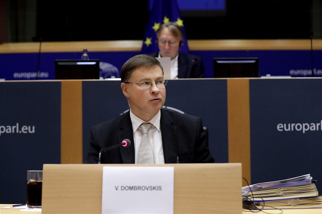 Europees Commissaris voor Handel Valdis Dombrovskis. Foto: EPA/Stephanie Lecocq