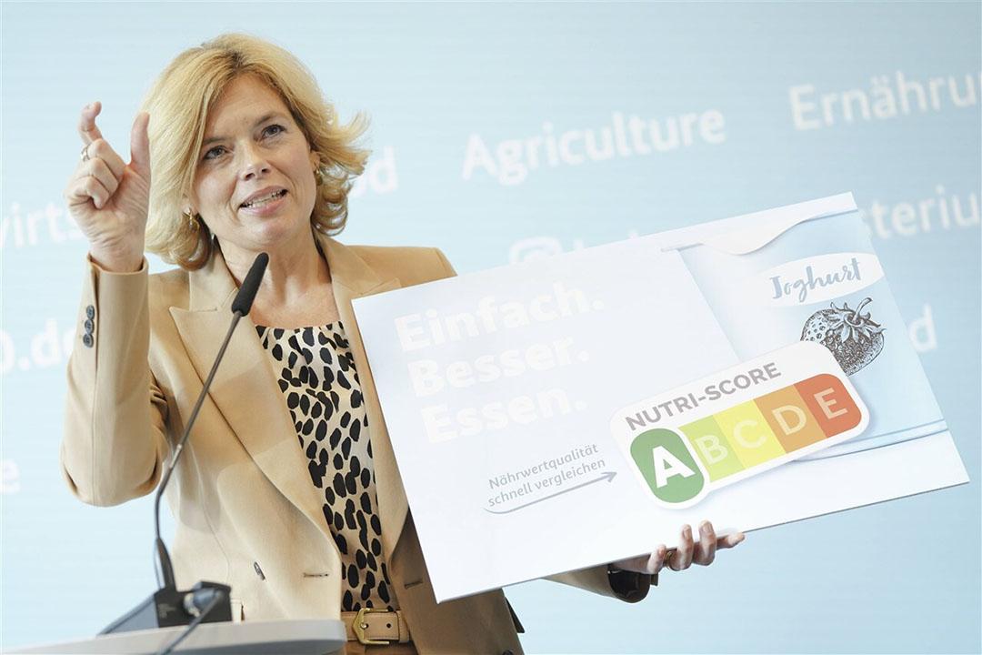 Verantwoordelijk voor de promotie van het label Nutri-Score – ook wel voedingsverkeerlicht genoemd – is landbouwminister Julia Klöckner. Foto: ANP