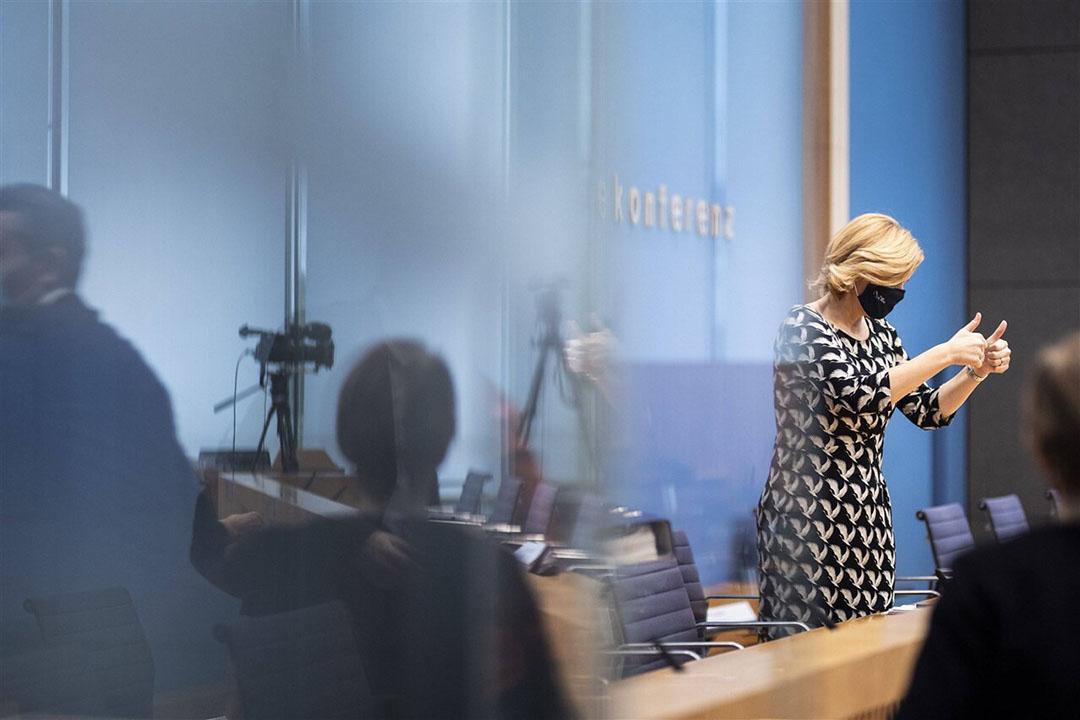 Voorzitter van de Europese landbouwraad (en Duits landbouwminister) Julia Klöckner noemt het akkoord een mijlpaal. - Foto: ANP/Imago Stock & People/Florian Gaertner