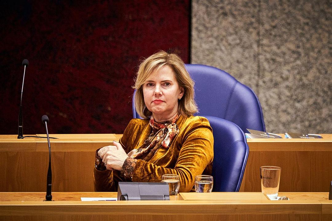 Minister Cora van Nieuwenhuizen van Infrastructuur en Waterstaat (VVD) in de Tweede Kamer. Foto: ANP