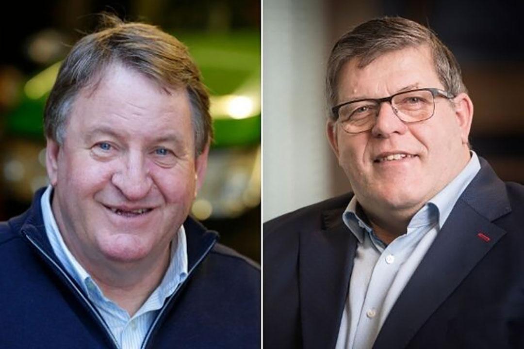 Jaap Haanstra (l.) en Jan Cees Vogelaar. - Foto: Koos Groenewold en Ruud Ploeg