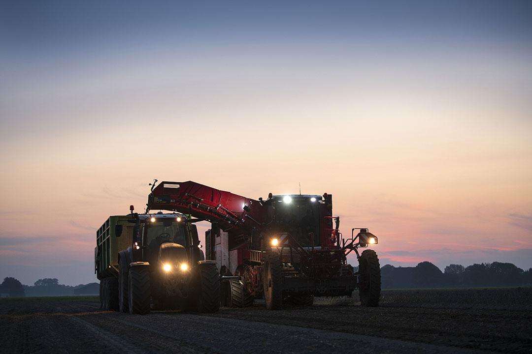 De oogst van aardappelen vorige maand in Oudebildtzijl (Fr.) - Foto: Mark Pasveer