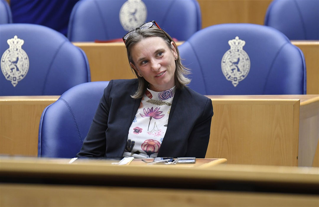 Laura Bromet van GroenLinks staat op plaats vier van de kandidatenlijst van haar partij en is daarmee vrijwel zeker van haar tweede periode. Foto: ANP
