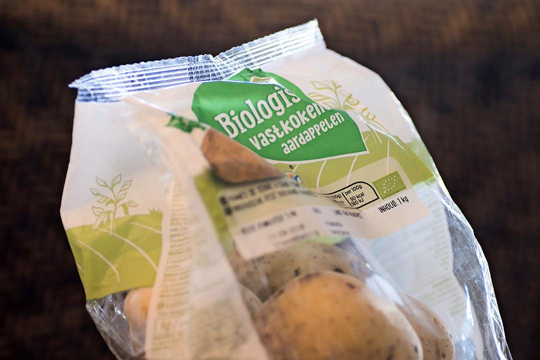 Biologische aardappelen bij Albert Heijn. - Foto: ANP