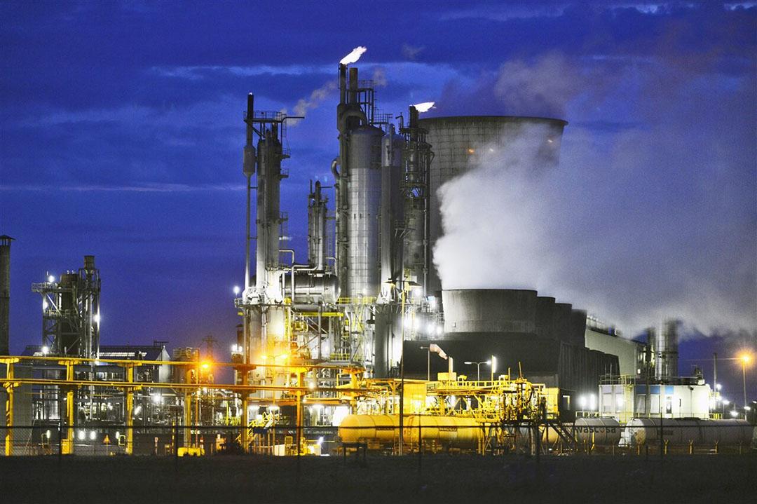 Een fabriek van het bedrijf OCI in Geleen. Foto: ANP