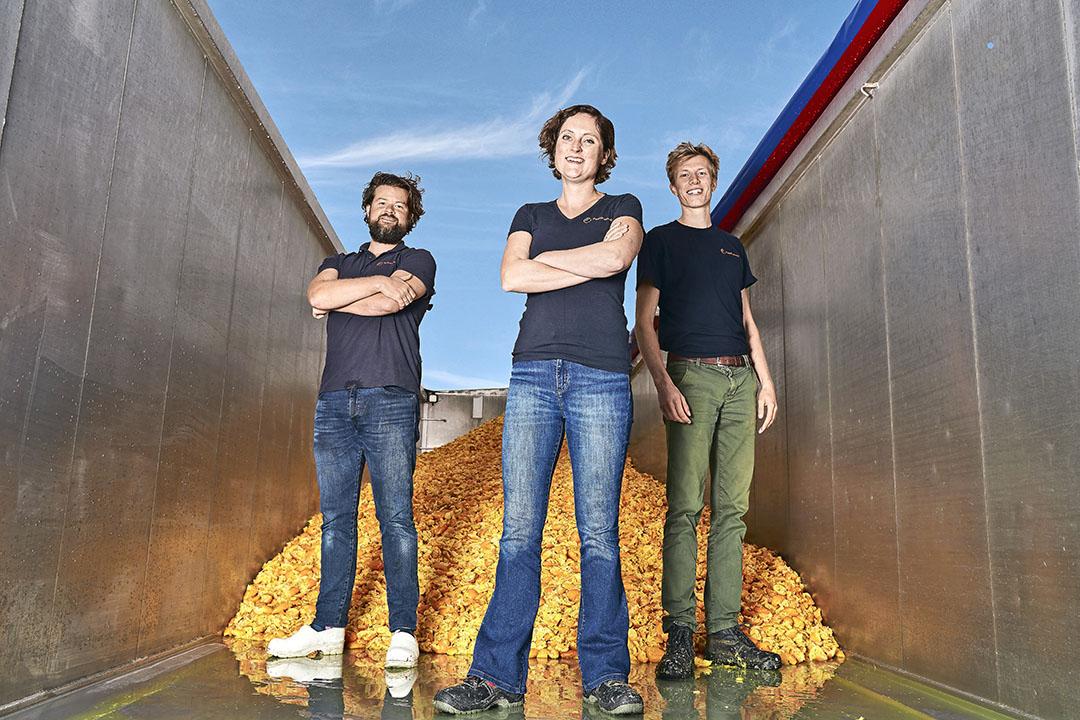 De oprichters van PeelPioneers: Bas van Wieringen, Lindy Hensen en Sytze van Stempvoort. - Foto: PeelPioneers