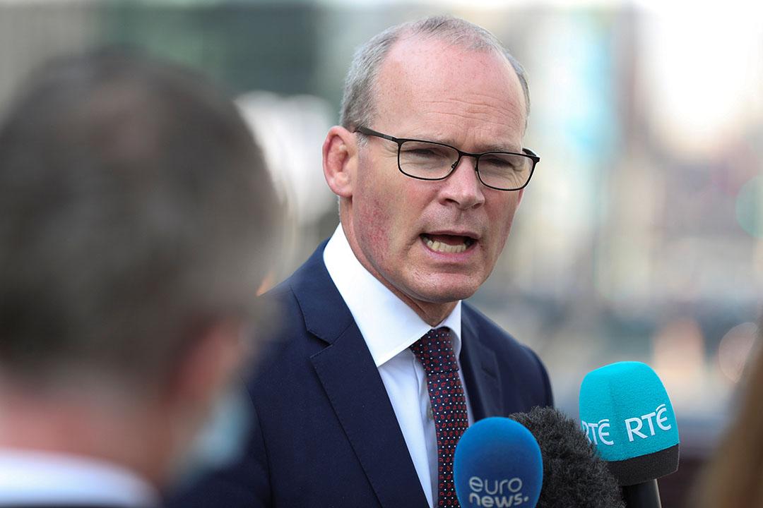De Ierse minister voor buitenlandse zaken Simon Coveney. - Foto: Reuters