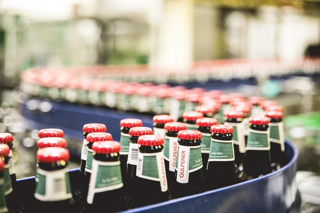 Vulafdeling van de Gulpener Bierbrouwerij. De bierbrouwer produceert op duurzame wijze diverse bieren. - Foto: Gulpener Bierbrouwerij