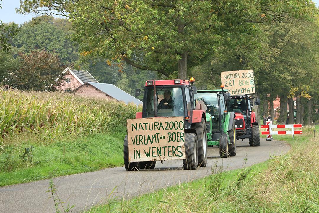 Boerenprotest oktober 2019 rond Winterswijk tegen de gevolgen van het stikstofbeleid. - Foto: Henk Riswick