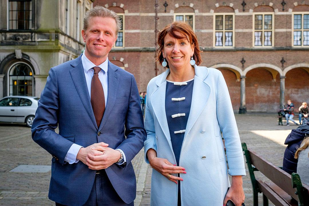 Archieffoto van VVD-Kamerleden Arne Weverling en Helma Lodders. - Foto: Roel Dijkstra