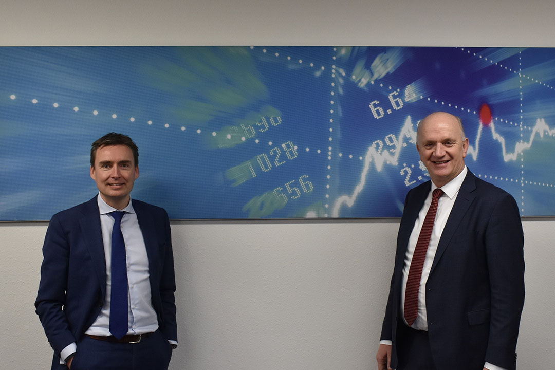 Dennis van Huet (l) en Jan Kos, CEO VanderSterre Groep, Van Huet is aangesteld om VanderSterre Ingredients te leiden. Foto: VanderSterre