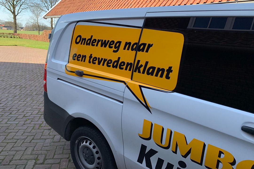 De bezorgservice van Jumbo kon gisteren niet alle boodschappen bezorgen bij klanten. - Foto: Martijn ter Horst