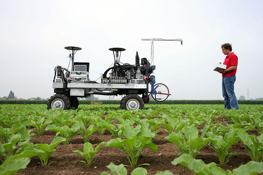 De inzet van machines en (veld)robots leidt tot meer energieverbruik en minder werkgelegenheid in de landbouw, zeggen onderzoekers. - Foto: Hans Prinsen