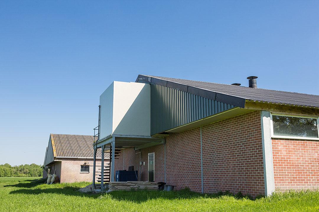 Warmteterugwininstallatie bij een varkensstal. - Foto: Peter Roek