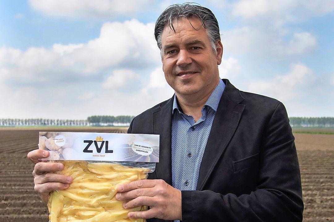 Denis Steijaert met ZVL Friet. Ook provincie Zeeland wil het project financieel steunen. - Foto: Cynthia Cats