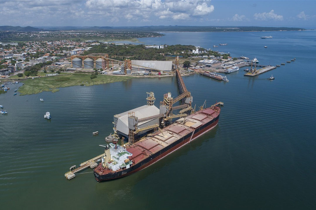 Containerschip van Cargil in Braziliaanse haven. Foto: ANP