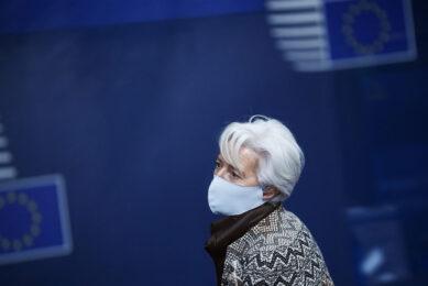 Volgens ECB-president Christine Lagarde past de economische impact van de pandemie en alles wat daarbij komt kijken nog binnen de laatste prognoses van de centrale bank. Foto: ANP