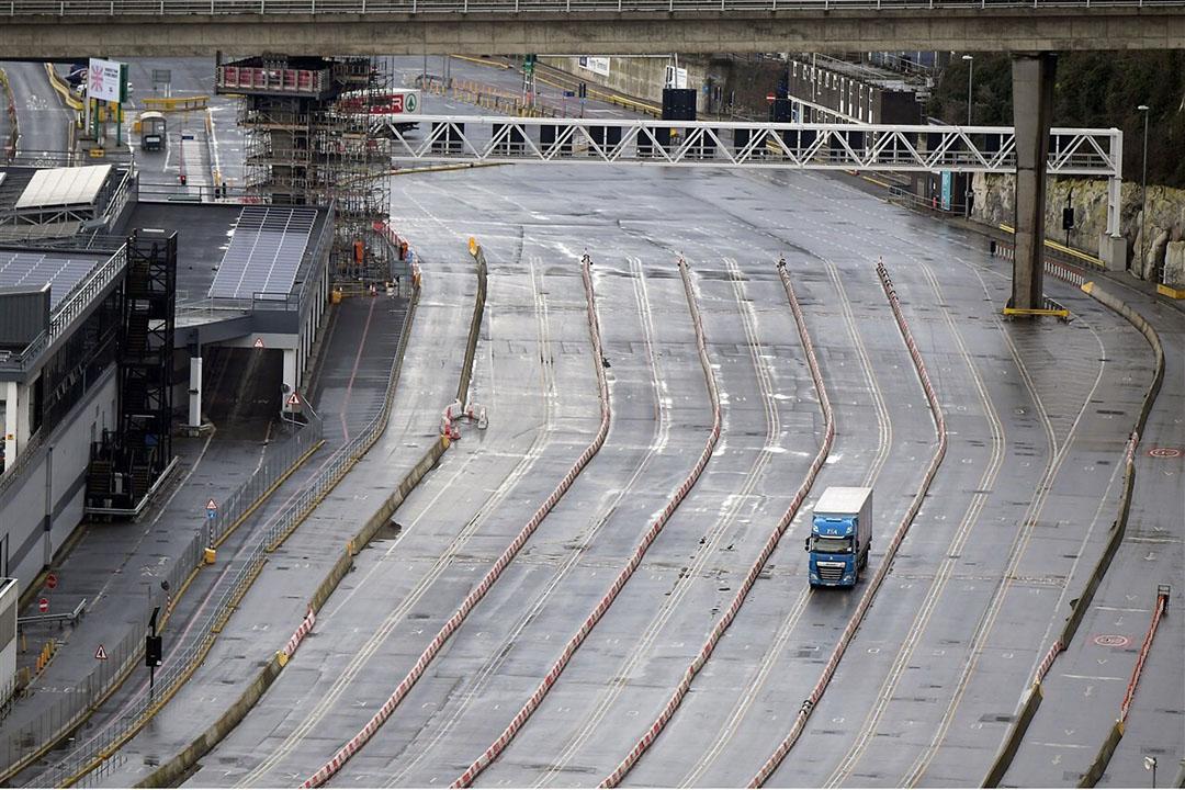 In de grote havenplaatsen Dover en Calais is van het verwachte oponthoud na 1 januari geen sprake. Foto: Martin Dalton/Shutterstock via ANP
