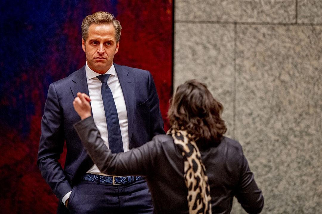 Hugo de Jonge, minister van Volksgezondheid, Welzijn en Sport, tijdens het debat over de ontwikkelingen rondom het coronavirus op 5 januari 2021. - Foto: ANP