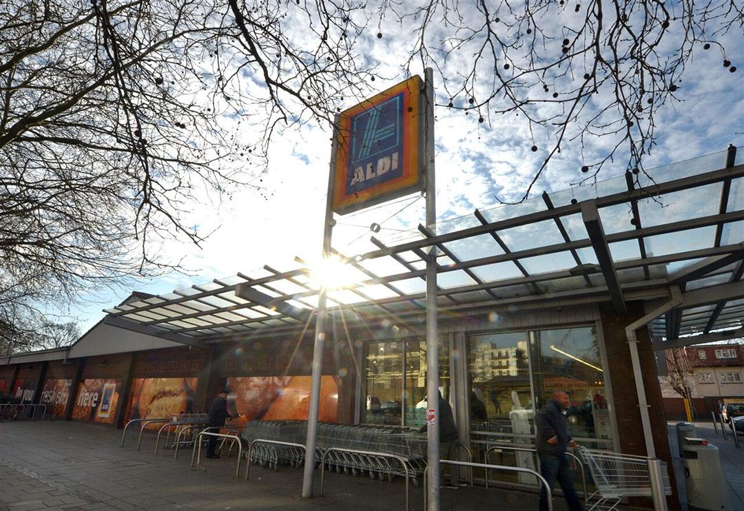 Aldi is al enkele jaren de snelst groeiende supermarkt in het Verenigd Koninkrijk. Dankzij het openen van honderden nieuwe filialen is het marktaandeel inmiddels opgelopen tot 7,7%. Foto: ANP