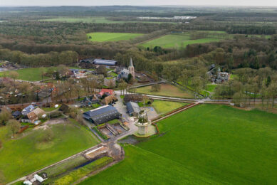 Omgeving landbouw Vilsteren. Melkveehouders gaan op dit landgoed en in het Vechtdal samen met provincie Overijssel werken aan verduurzaming. - Foto: Ruud Ploeg
