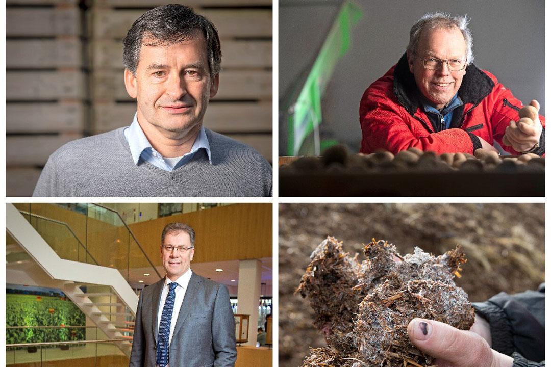 Met de klok mee: Jaap van Wenum (LTO), Teun de Jong (NAV) en Dirk de Lugt (BO Akkerbouw). - Foto's: Koos Groenewold, Mark Pasveer en Peter Roek