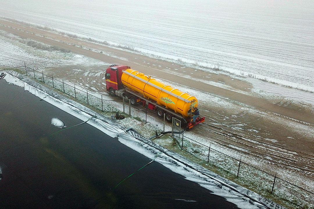 Transport van mest. - Foto: Bert Jansen