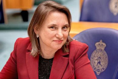 Laura Bromet (51) is landbouwwoordvoerder van GroenLinks. Ze staat op plaats 4 van de kandidatenlijst. - Foto: ANP