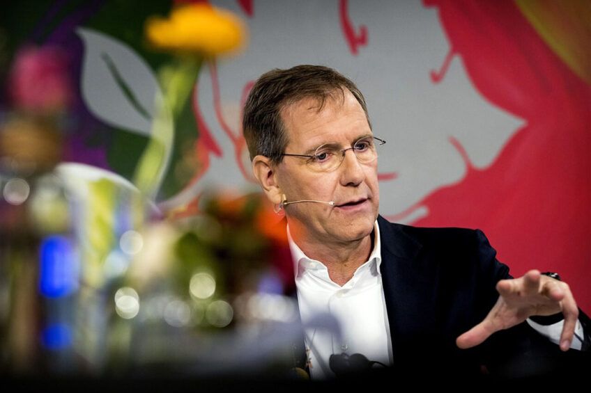 Topman Wiebe Draijer van de Rabobank geeft een toelichting op de financiele resultaten in 2020. - Foto: ANP