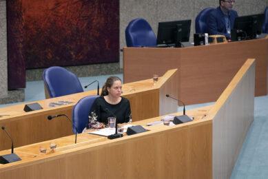 Landbouwminister Schouten in de Tweede Kamer. Foto: ANP