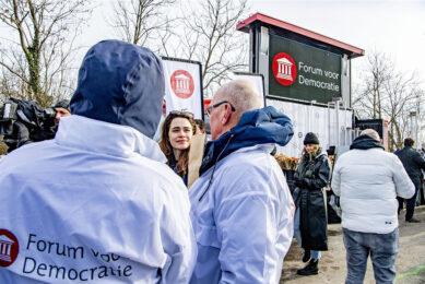 Forum voor Democratie voert campagne. Foto: ANP