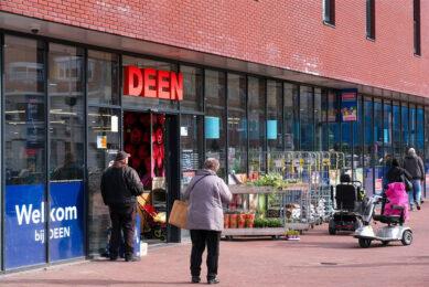 Een DEEN-supermarkt, een Nederlandse supermarktketen met voornamelijk filialen in Noord-Holland. De supermarktketen houdt op te bestaan. De filialen worden verkocht aan concurrenten. Foto: ANP