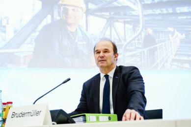 Martin Brudermueller, CEO van BASF, tijdens de presentatie van de jaarcijfers. - Foto: ANP