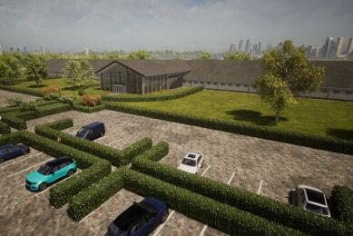 Een impressie van het trainingscentrum dat dertien Nederlandse bedrijven willen bouwen in Anping, China. - Foto: Agrifirm