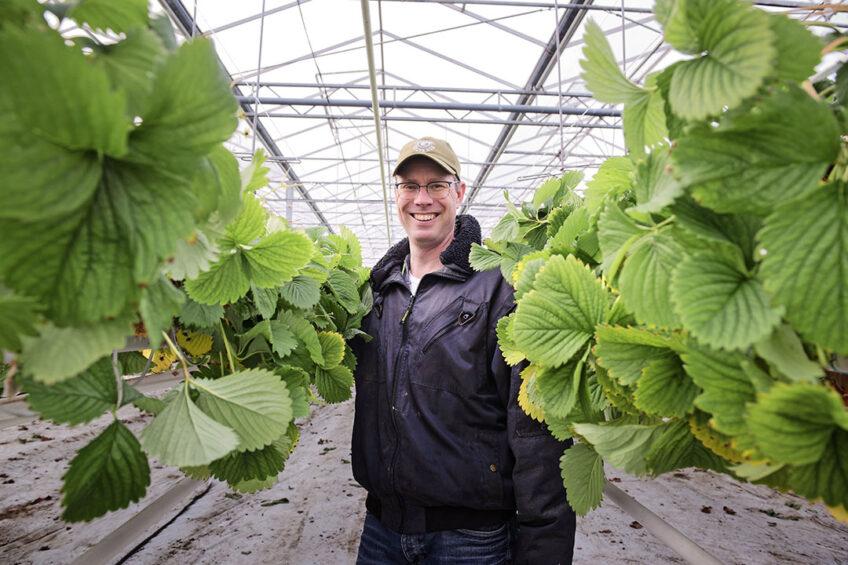"""Arjen Kok: """"Niet elk experiment met natuurlijke bestrijders loopt goed af. Daar leer ik dan van."""" - Foto: Lex Salverda"""