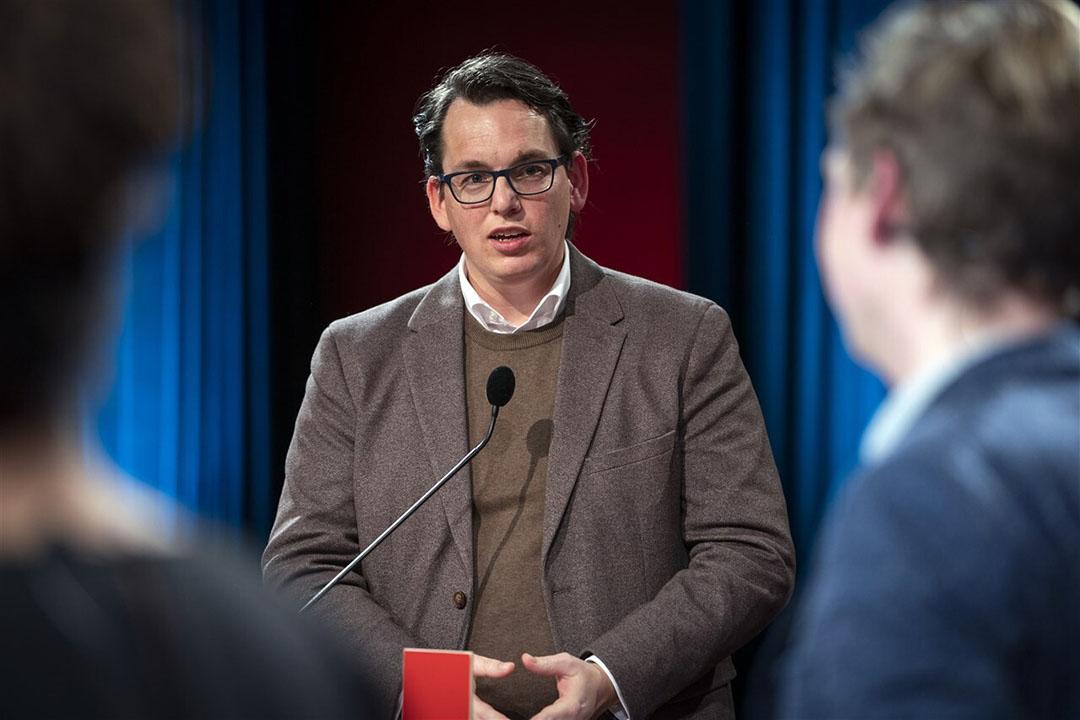 """Pieter Grinwis (ChristenUnie): """"De positie van de boer in de keten moet beter. Als de consument €1,30 voor een kilo aardappelen betaalt, kan je de boer niet afschepen met 8 cent""""."""