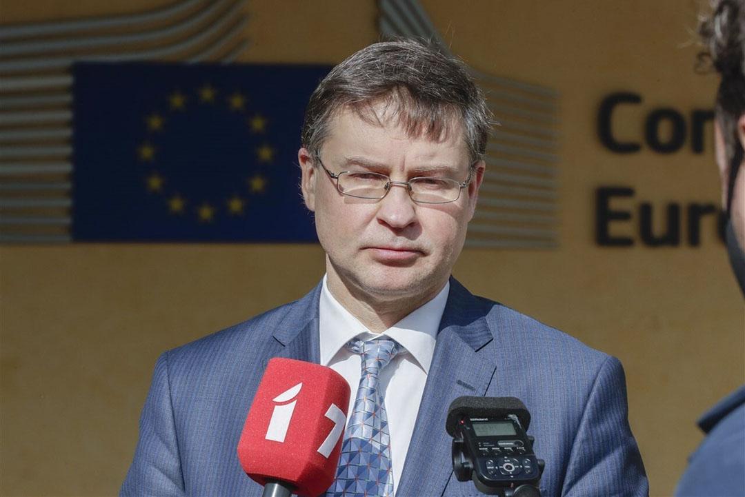 Valdis Dombrovskis, EU-commissaris voor Handel. Foto: ANP